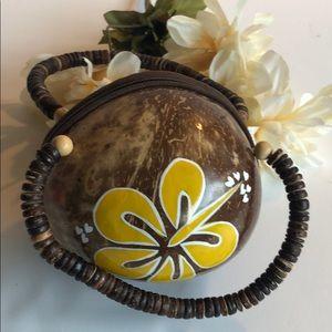 Hawaiian coconut purse